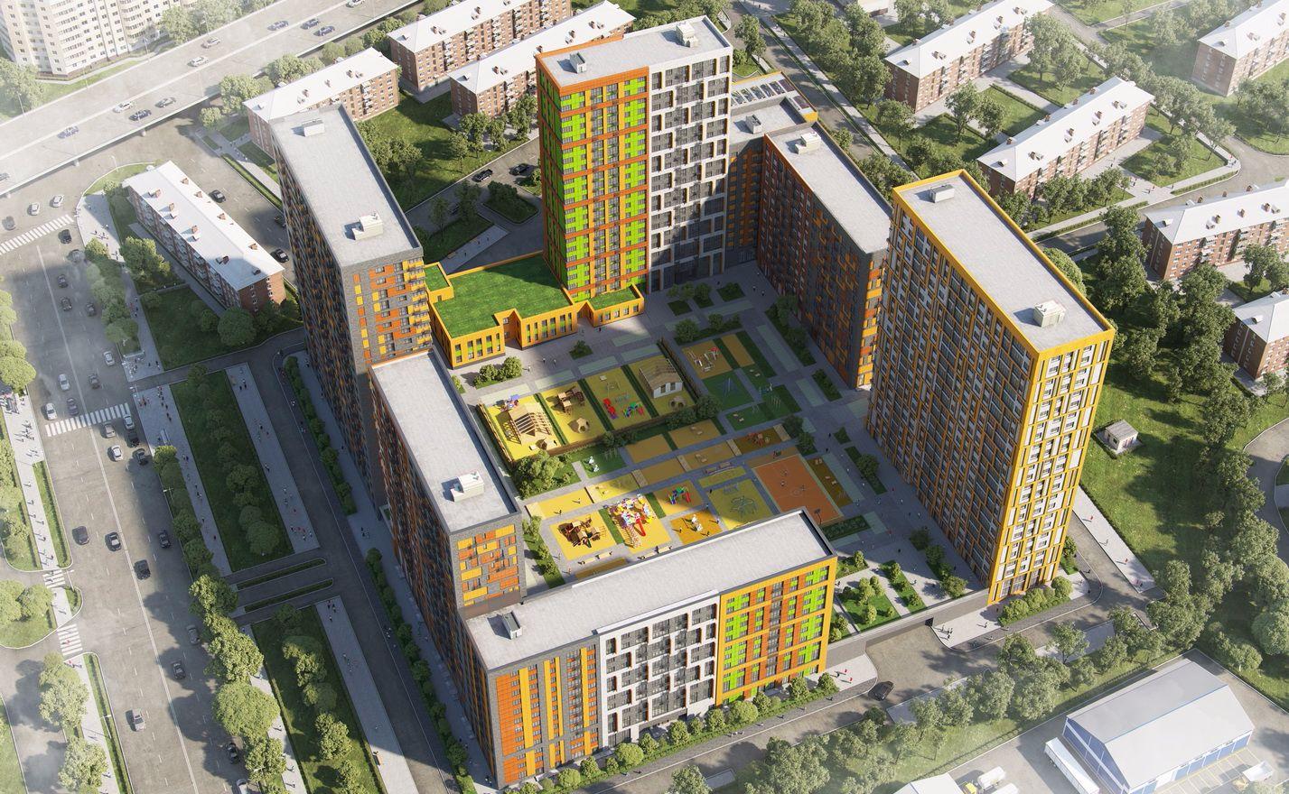 Планировка Двухкомнатная квартира площадью 64.69 кв.м в ЖК «Петра Алексеева, 12А»